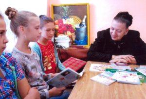 В гостях у писателя читатели из детской библиотеки поселка ГРЭС